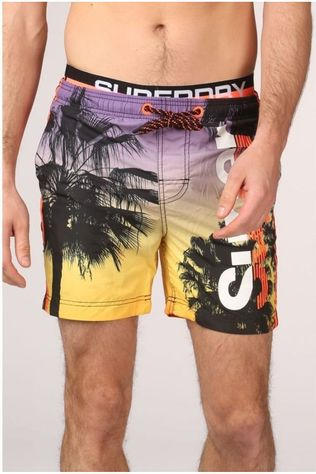 Superdry Zwemshort Photographic Volley Geel/Zwart
