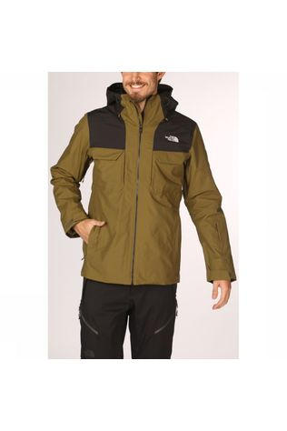 The North Face Jas Fourbarrel Triclimate Donkerkaki/Zwart