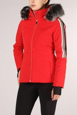 Poivre Blanc Manteau Stretch Ski Rouge