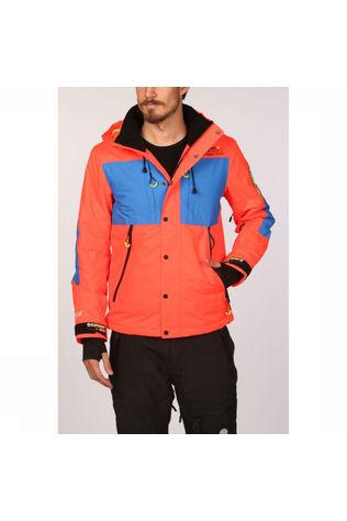 Superdry Manteau Sd Mountain Jacket Orange/Bleu Roi