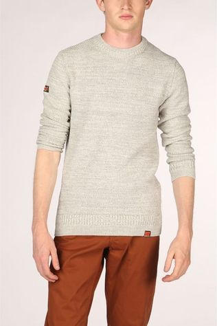 Superdry Pull Keystone Crew Gris Clair