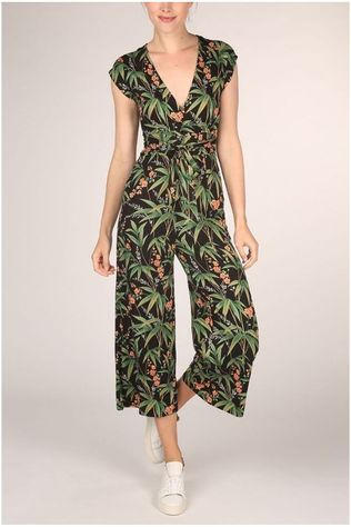 King Louie Jumpsuit Lot Cropped Tahiti black/Assortment Flower
