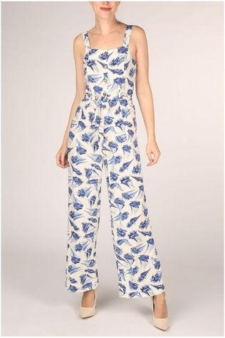 King Louie Jumpsuit Ines Loveboat white/light blue