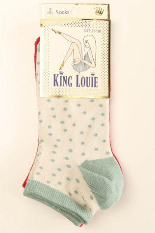 King Louie Kous Short 2-Pack Arcade Middenrood/Gebroken Wit