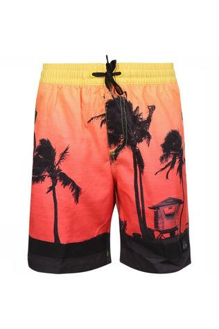 Quiksilver Short De Bain Paradise Volley Youth 15 Rouge Moyen/Assorti / Mixte