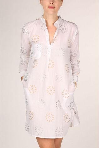 Happy Few Robe Tunique Gold Silver Blanc/Argent