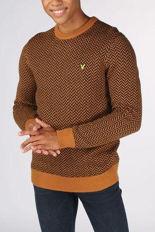 Lyle & Scott Pullover 2002-Kn1353V Camel Brown/Black