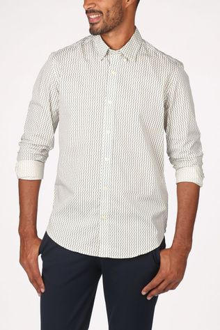 Ben Sherman Shirt 2002-Sh0061443 Off White/Ass. Geometric