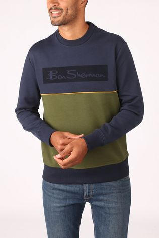 Ben Sherman Pullover 2002-Sw0061621 dark blue/mid green