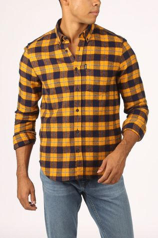 Antwrp Shirt 2002-Bsh014/C483 dark blue/dark yellow