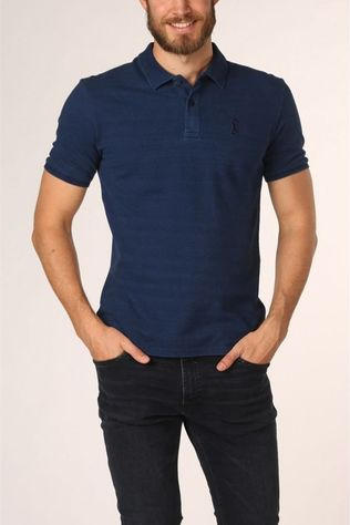 Vive le Velo Polo P-Navy Chain Blauw (Jeans)