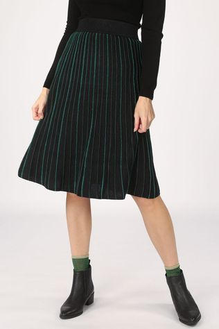 King Louie Skirt Pintuck Skirt Dazzle Stripe black/green