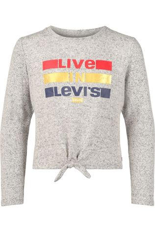Levi's Kids T-Shirt Lvg Tie Front Light Grey Mixture