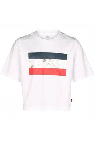 Levi's Kids T-Shirt Lvg Ss High Rise white