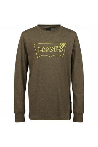 Levi's Kids T-Shirt Lvb Ls Graphic Middenkaki