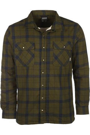 Ayacucho Shirt Flannel Padded Dark Khaki/Navy Blue