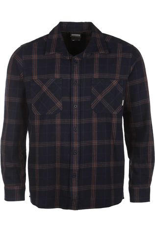 Ayacucho Shirt Flannel Navy Blue/Camel Brown