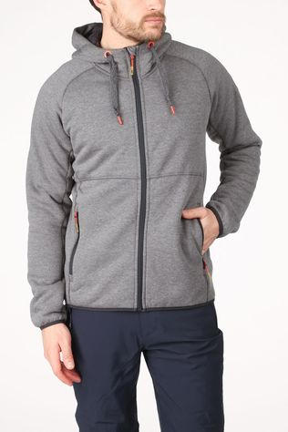 CMP Fleece Man Jacket Fix Hood High Loft Donkergrijs Mengeling