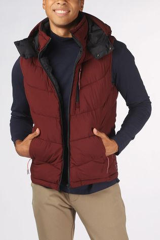 Scotch & Soda Bodywarmer Quilted Repreve mid brown