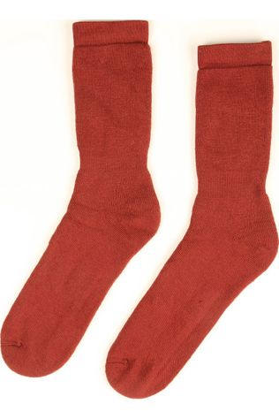 Woolpower Chaussette Classic 400 (warm everyday sock) Rouge Foncé