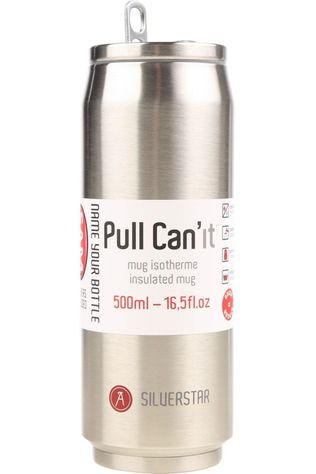 Les Artistes Gadget Pull Can'It Isotherm 500ml Zilver
