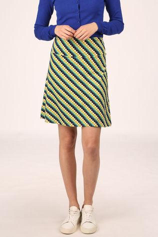 King Louie Skirt Border Skirt Daze dark yellow/dark green