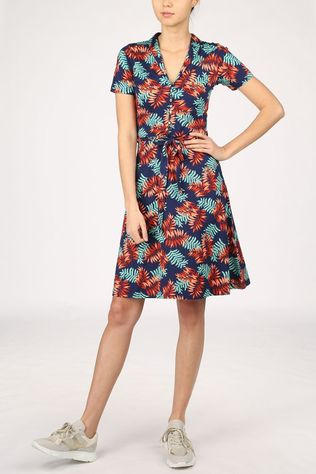 King Louie Dress Emmy Palo Verde dark blue/light pink