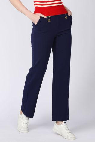 King Louie Broek Lara Sailor Pants Broadway Donkerblauw