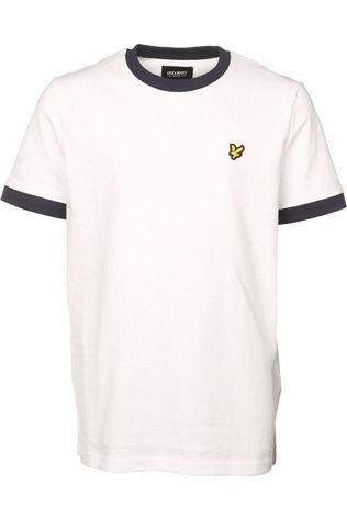 Lyle & Scott T-Shirt Ringer T Shirt Wit