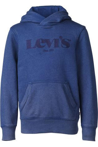 Levi's Kids Trui Lvb Washed Down Logo Po Blauw