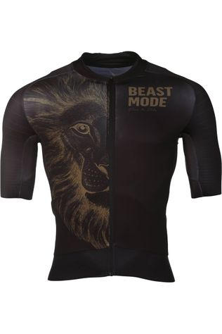 Vive le Velo T-Shirt Short Sleeve Beast Mode Gold Goud/Zwart