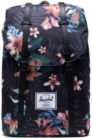 Herschel Supply Sac à Dos Retreat Noir Moyen/Assortiment Fleur