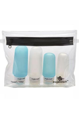 Eagle Creek Put Away System  Pack-It Silicone Bottle Set white/light blue