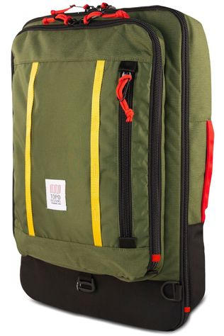 Topo Designs Travelpack Travel Bag 40L mid green/mid red