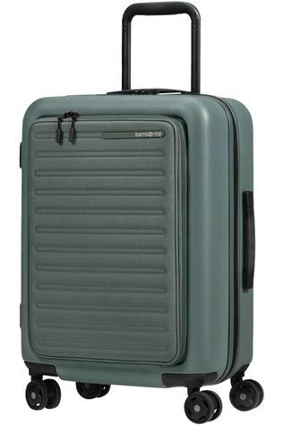Samsonite Handbagage Stackd Spinner 55 Exp Easy Access Donkergroen