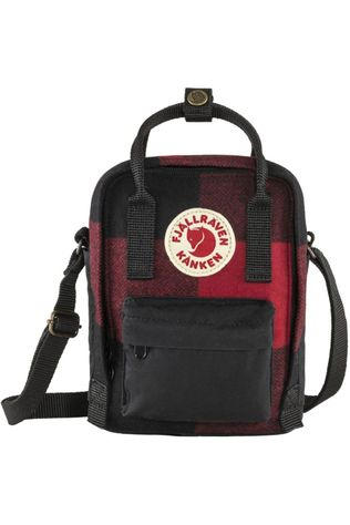 Fjällräven Shoulder Bag Kånken Re-Wool Sling red/black