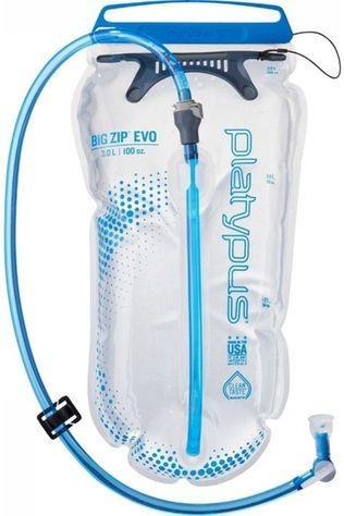 Platypus Hydration Reservoir Big Zip Evo 3.0L Mid Blue/No colour / Transparent