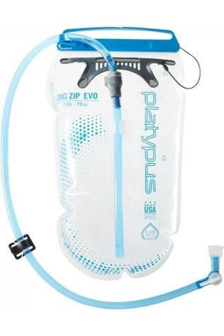 Platypus Hydration Reservoir Big Zip Evo 2.0L Mid Blue/No colour / Transparent
