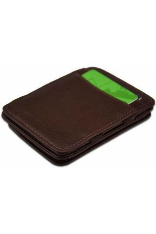 Hunterson Wallet Leather RFID Magic Coin Wallet brown