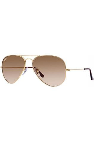Ray-Ban Lunettes Aviator Classic Or/Brun