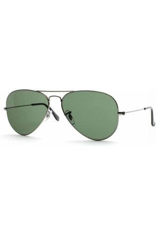 Ray-Ban Bril Aviator Classic Donkergrijs/Groen