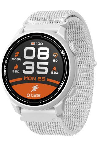 Coros Montre De Sport Pace 2 White With Nylon Band Blanc