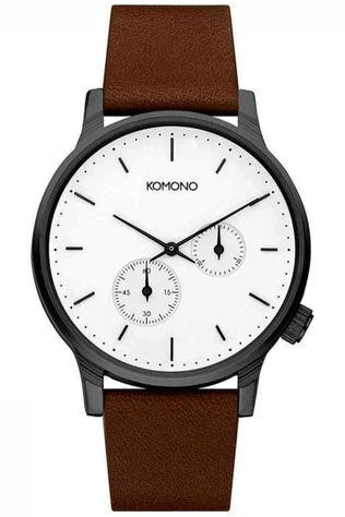 Komono Watch Double Subs white/dark brown
