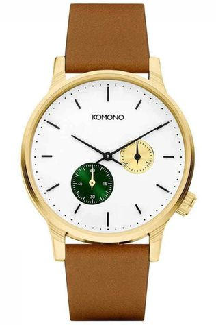 Komono Watch Double Subs Camel Brown/Mid Green
