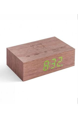GINGKO Alarm Clock Flip Click Clock mid brown