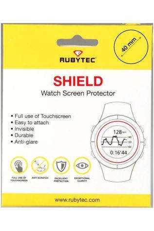 Rubytec Diverse Shield 40 mm Watch Screen Protector Geen kleur / Transparant