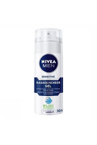 Nivea Hyg Pers 30 ml Scheergel Sensitive Pas de couleur / Transparent