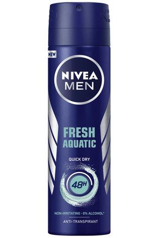 Nivea Deo Men Fresh Aquatic Spray 150ml Geen kleur / Transparant
