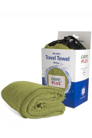 Care Plus Handdoek Travel Towel Medium Pesto Middengroen