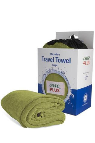 Care Plus Serviette Travel Towel Large Pesto Vert Moyen